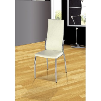 Pack de 4 sillas pata cromada