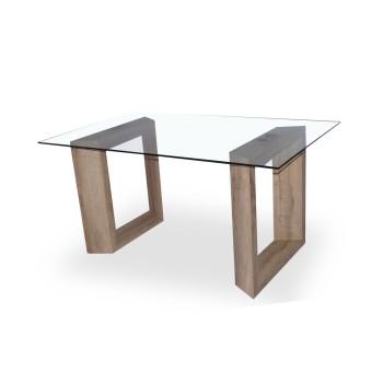 Mesa comedor 150x90 cristal tara