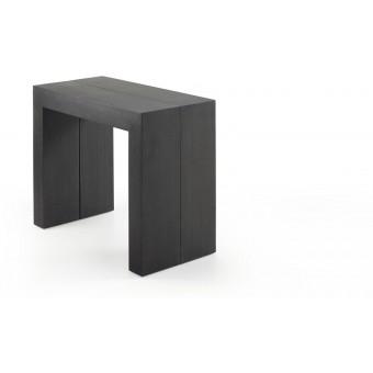 Mesa diseño moderno consola en madera roble grafit extensible 45 (200) modelo PENTA