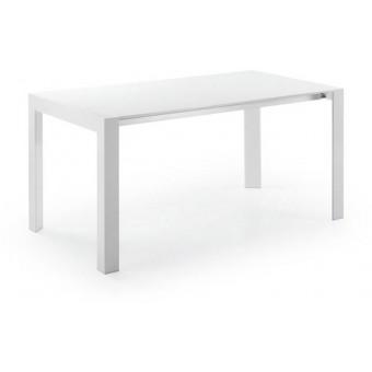 Mesa De Diseño Moderno Extensible De 130 Cm(210 Cm)Con Tapa lacada brillo blanco modelo NEWPORT