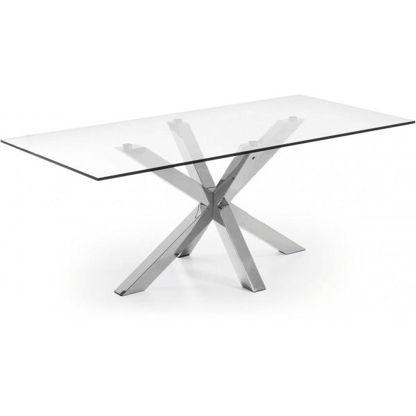 Diseño Moderno 200x100 Con Pies Acero inoxidable Y Tapa Cristal ...