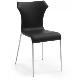 Silla diseño moderno acero inoxidable color negro modelo TREVOR