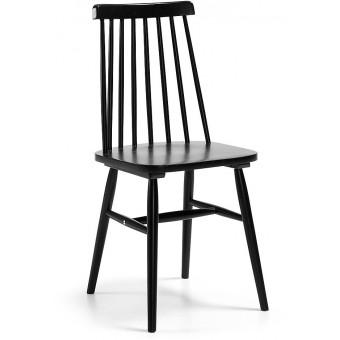 Silla de madera color negro modelo ALBEUP