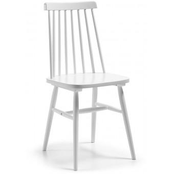 Silla de madera color blanco puro modelo ALBEUP
