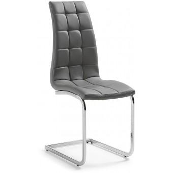 Silla diseño moderno acero cromado color gris modelo WALKER